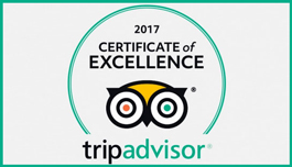 Brendal's wins TripAdvisor award for Excellence