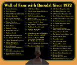 View Brendal's Wall of Fame Since 1972